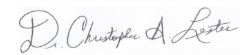 Signature of Christopher Lester