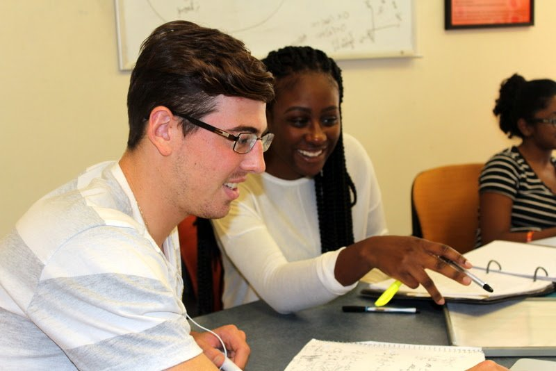 Students in a tutoring session