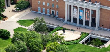 Aerial view of Hornbake Library